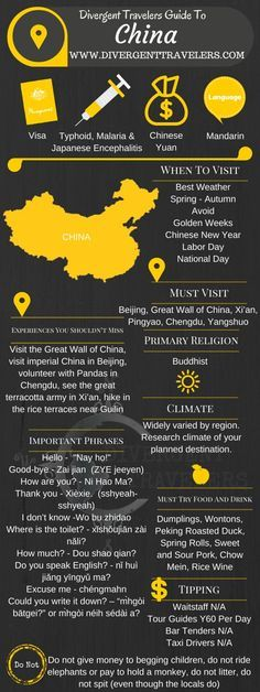 Divergent Travelers Travel Guide, With Tips And Hints To China. This is your ultimate travel cheat sheet to China. Click to see our full China Travel Guide from the Divergent Travelers Adventure Travel Blog and also read about all of the different adventu