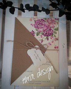 Uygun fiyatlı davetiye modelleri... #heradesign #özeltasarım #nikah #düğün #nişan #davetiyemodelleri #kişiyeözel #davetiye #wedding #card #invitation #vintage #nikahhediyelikleri #nikahşekeri #weddingfavors #çiçeklidavetiye #floralinvitation