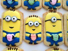 Despicable Me Minion Valentine's Cookies