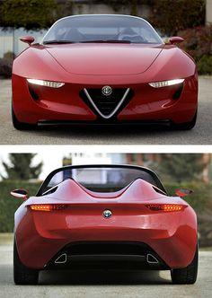Alfa Romeo 2uettottanta by Pininfarina | Inspiration Grid | Design Inspiration