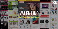 Valentino Premium Opencart Theme . Valentino has features such as High Resolution: No, Compatible Browsers: IE9, IE10, IE11, Firefox, Safari, Opera, Chrome, Compatible With: Bootstrap 2.3.x, Software Version: OpenCart 1.5.6.x, Columns: 3