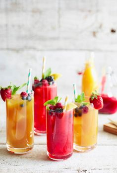 Jazz up your traditional Iced Tea with these Mango and Raspberry Infusions from www.whatsgabycooking.com (@whatsgabycookin)