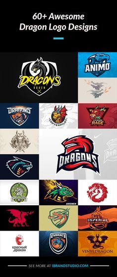 A Collection of 60+ Most Attractive Dragon Logos