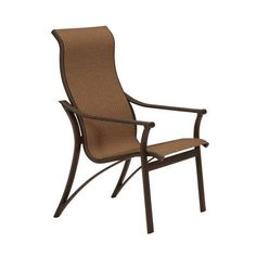 Tropitone Corsica Patio Dining Chair (Set of 2) Finish: Obsidian, Fabric: Sparkling Water