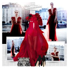 """""""Lady In Red"""" by bklana ❤ liked on Polyvore featuring Gucci and Dolce&Gabbana"""