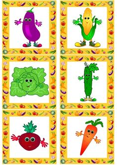 Summer brings us a lot of tasty and healthy vegetables. It's one of interesting topics for young English learners to discover. Vegetable Crafts, Free Printable Art, Interesting Topics, Best Fruits, Healthy Vegetables, Learn English, Kids English, Funny Cartoons, Fall Crafts