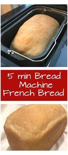 French Bread Bread Machine, Easy Bread Machine Recipes, Best Bread Machine, Bread Maker Machine, Bread Maker Recipes, Easy Bread Recipes, Gourmet Recipes, Cooking Recipes, Bread Maker French Bread Recipe