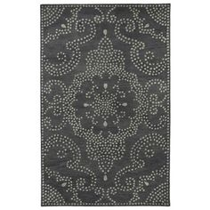 Hand-Tufted Lola Mosaic Charcoal Medallion Wool Rug (9'6 x 13'0)