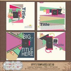 Iffy's Templates Set.10 - $4.75 : Peppermint Creative, Digital Scrapbook Supplies