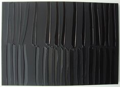 Born in 1919 in Rodez, France, Soulages based his art on black monochromy and on volumes and lights variations. Contemporary Abstract Art, Modern Art, Alberto Burri, Art Abstrait, Color Shapes, Texture Art, French Artists, T 4, Mixed Media Art