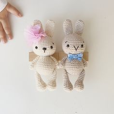 Ravelry, #crochet, free pattern, amigurumi, rabbit, girl and boy, stuffed toy, #haken, gratis patroon (Engels), konijn, knuffel, speelgoed, #haakpatroon