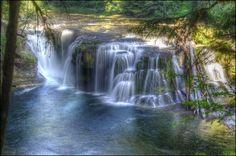 Lewis River Falls near Mt. St. Helens in WA