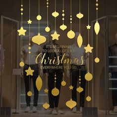 Christmas Song Shop Window Sign Removable Retail Display
