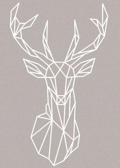Removable Wall Sticker | Geometric Deer