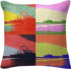 Santa Monica Pier Pop Art Pillow from Print All Over Me