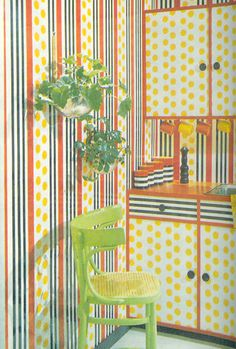 gold country girls: May 2011 1970s Decor, Retro Home Decor, Vintage Interior Design, Vintage Interiors, Vintage Room, Vintage Decor, 1970s House, Mall Design, 1970s Kitchen