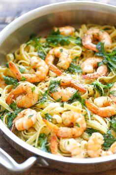 Garlic Butter Shrimp Pasta | Free Online Recipes