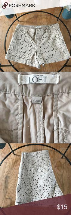 Ann Taylor Loft eyelet shorts Super comfortable LOFT Shorts