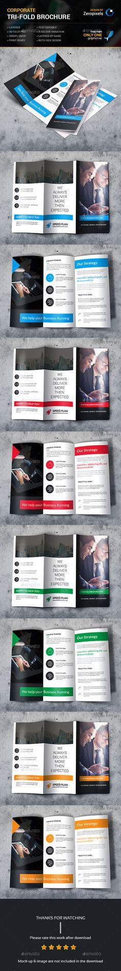 Corporate Business Tri-fold Brochure. Download http://graphicriver.net/item/corporate-business-trifold-brochure/15285562?ref=heavens786