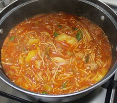 Korean Food, Kimchi, Thai Red Curry, Soup, Cooking, Ethnic Recipes, Kitchens, Kitchen, Korean Cuisine