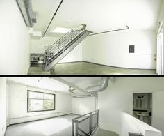 Emporia Lofts- 211 W. Emporia St. Ontario, Ca 91762. Ontario Arts District Lofts in Downtown Ontario, Ca. Industrial kitchen style. Loft living. Industrial Design. Polished concrete floors, metal staircase. Exposed vents & piping. Jeved Management, Inc.