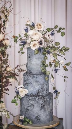 pretty wedding cake designs, painted wedding cake, unique we Pretty Wedding Cakes, Wedding Cakes With Cupcakes, Elegant Wedding Cakes, Wedding Cake Designs, Rustic Wedding, Elegant Birthday Cakes, Simple Elegant Wedding, Pretty Cakes, Amazing Wedding Cakes