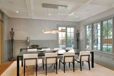 If sleek interior decor is your thing, you'll love this Atherton, California dining room.