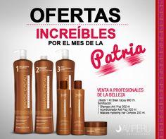 Aprovecha esta súper promoción por FIESTAS PATRIAS!!! Llévate 1 Kit Brasil Cacau 980 ml. Bonificación del POST Tratamiento Capilar: 1 Shampoo Anti Frizz 300 ml. 1 Acondicionador Anti Frizz 300 ml.  1 Máscara Hydrating Hair Complex 200 ml. Solicita tu promoción: A TU ASESORA DE VENTAS Telf.: 01 243 4442 WhatsApp: 977 465 889 Correo: ventas@aviperusac.com / brasilcacauavi@gmail.com