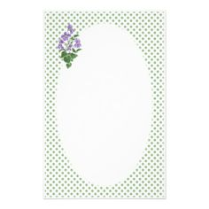 Shop Stationery: Violets, Polka Dots to Personalize Stationery created by poshandpainterly. Personalize it with photos & text or purchase as is! Birth Month Flowers, February Birthday, Sweet Violets, Gift Suggestions, On The High Street, Stationery Paper, Note Paper, Watercolour Painting, Paper Goods
