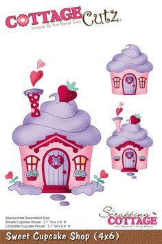 CottageCutz Sweet Cupcake Shop (4x6)