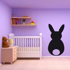 """lavagnetta decorativa da parete """"Bunny"""" scrivibile con gessetti, adesiva adatta a tutte le superfici sufficientemente lisce"""