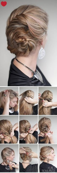Pinterest Hairstyles: How To Make French fishtail braid chignon