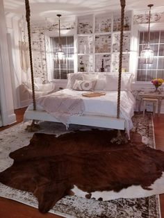 How to Make a Hanging Bed, Faux Brick Guest Room Remodel Room Ideas Bedroom, Bedroom Wall, Girls Bedroom, Bedroom Decor, Bedrooms, Faux Brick Walls, Hanging Beds, Master Bedroom Makeover, Bed Design