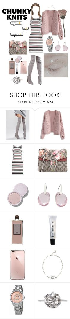 """bajo este estado."" by floo-carriillo ❤ liked on Polyvore featuring Truffle, Chicwish, T By Alexander Wang, Gucci, Swarovski, Serge Lutens, Bobbi Brown Cosmetics, Christian Dior and Suzanne Kalan"