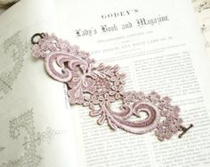 floral cuff / lace bracelet / ELYSIA / copper by whiteowl on Etsy