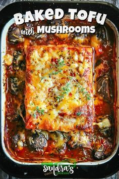 Baked Tofu with Mushrooms This sauce is absolutely amazing! You just want to dip tofu in that sauce and enjoy it fully. Vegetarian Cooking, Easy Cooking, Cooking Recipes, Cooking Tips, Cooking Corn, Cooking Dishes, Vegetarian Dinners, Oven Cooking, Italian Cooking