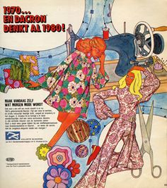 70s sewing fashion illustration advertisement scan