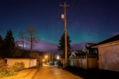 Aurora Borealis seen from a Burnaby street in BC Places Around The World, Around The Worlds, Vancouver, Strange Places, Light Images, Beautiful Homes, Beautiful Scenery, Cn Tower, Screen Shot