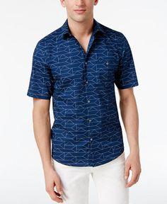 Duca Blanca Men/'s Short Sleeve Fading Print Regular Fit Fashion T-Shirt Blue