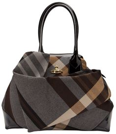 Vivienne Westwood Winter Tartan Bag in Gray (grey)