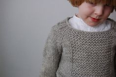 This pullover is designed to keep small adventurers warm and happy. It's knitted seamlessly from the top down.