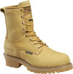 "Men's Carolina 8"" Plain Toe Logger Waterproof & Insulated Work Boots CA4826"