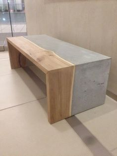 concrete coffee table minimalist design wood The post The concrete coffee table – modest elegance and stylish design appeared first on Woman Casual - Home Inspiration Concrete Furniture, Concrete Wood, Concrete Design, Wood Design, Diy Furniture, Modern Furniture, Furniture Design, Concrete Countertops, Furniture Dolly
