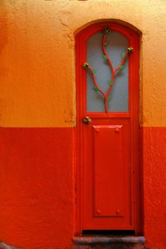 Red and orange.