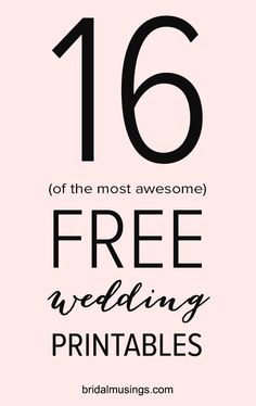 Gorgeous (And Free!) Printables For Your Wedding 16 of the most awesome wedding printables and they're all FREE! (Plus a bonus printable budget of the most awesome wedding printables and they're all FREE! (Plus a bonus printable budget plan! Before Wedding, Wedding Tips, Wedding Day, Wedding Venues, Free Wedding Stuff, Wedding Programs, Trendy Wedding, Wedding Bands, Wedding Planning Book