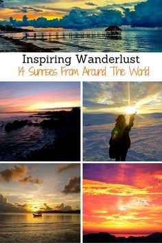 Get inspired to travel the globe and wake up early with these sunsets from all over the world. Places to travel and things to do. In Asia, the United States, Russia and more.