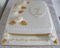 anniversary cakes | 50th Wedding Anniversary cake | Flickr - Photo Sharing!