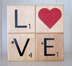 Hello all you ABN crafters! Jen here again from Sweeten Your Day to share with you another fun craft/home decor inspiration! Our family loves to play games so much, it is some of our fondest memories with friends too. So today I am going to show you how to  make scrabble-inspired home decor! Supplies: Wood Blocks (