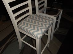 how to add cushions to wood chairs