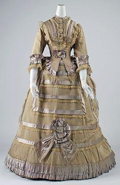 1870 silk dress dinner